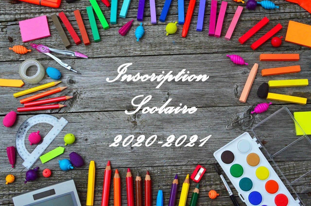 Année scolaire 2020-2021 :   Demandes d'inscription scolaire, restaurant scolaire et étude surveillée communale  Si vous souhaitez inscrire votre 1