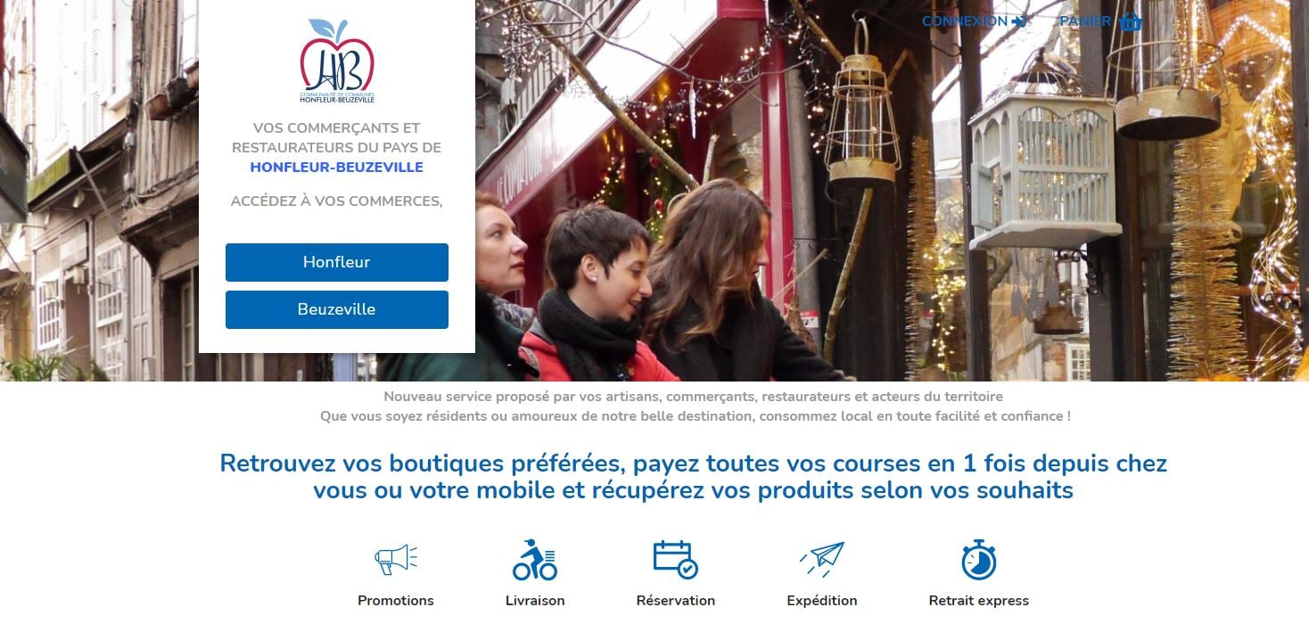[ Mes commerces à Honfleur Beuzeville]  Mise en ligne d'une plateforme d'e-commerce pour le territoire :     Retrouvez vos boutiques préférées, 1